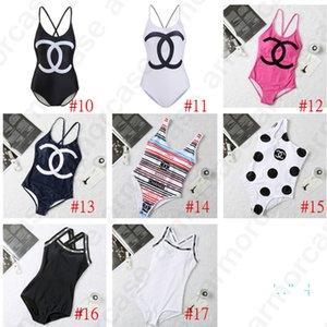 Verão Mulheres Designer Bikini Beachwear Marca Swimwear Sexy Ladies uma peça Swimsuit Piscina Womens maiô D32906 17 Estilo