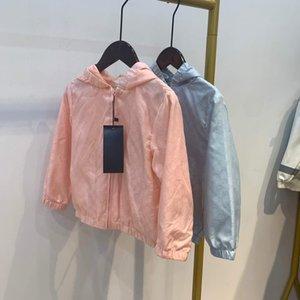 Fermuar Çocuk Ceket Tops Boys Kız Erkek Güneş Koruyucu Giysi Çocuk Bebek Coat marka Çocuk Giyim İlkbahar Yaz damla nakliye