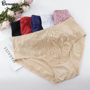 Beauwear Kadın Seksi Külot Çiçek Altında Pantolon Dantel İç Artı boyutu Dantel Pijama İç Çamaşırı Kadın İpek Saten Şort XL-5XL