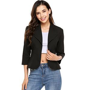 Femmes Spring Summer Blazers 2020 Explosion Femmes Solid Femmes Suit Manteau Seven-Manches Slim Office Lady Jacket Femme Tops Blazer