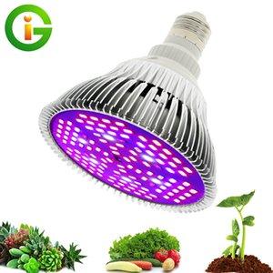 LED Grow Light Full Spectrum 30W / 50W / 80W E27 UV LED IR Bulbo crescente para plantas internas hidroponia Flores Lâmpada LED Crescimento