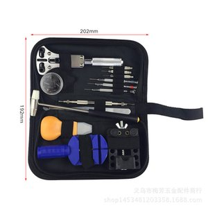 13pcs / set Assista Repair Tool Kit relógio relógio Opener Fazer a ligação Remover Primavera Bar Tool Set água Com Preto resistente saco de armazenamento Nova
