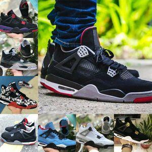2019 Nike Air Jordan 4 retro jordans para hombres zapatos de baloncesto 4 Pure dinero Lighting Royalty Nrd Raptor Negro Gris Cemento Blanco entrenador deportivo Zapatos