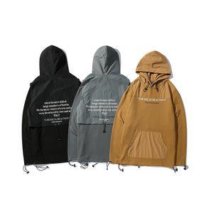 Retro Punk Rock Print Europa und Amerika High Street Hooded Sweater Herrenbekleidung 135