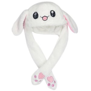 Cute Animal Plush Bunny Hat with voice Interesting Moving Up Down Ears Kids Girls Toys Gift