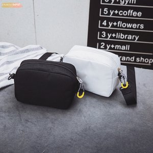 Solid Color Canvas Cross Body Small Shoulder Bag 2020 New Fashion Outdoor Bag Hip Hop Handbag Zipper Shoulder Bags Women 28