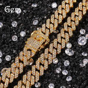 Fashion Tendance Miami Hip Bracelet Cuban Link Chain Hop Collier Argent Or 18K pour Rap or Bijoux de la chaîne masculine