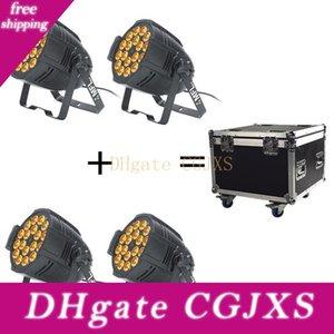 Decorazioni 4pcs Flightcase ha condotto la luce della fase luce par con DMX 512 18pcs10w 5in1 luce par Per Disco Party