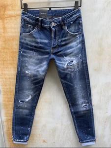 2020 Pantalons concis arraché à long concepteur de la marque de mode Individualité mens haut jeans motards de luxe de la mode de qualité chaude pour les hommes de jeans d2