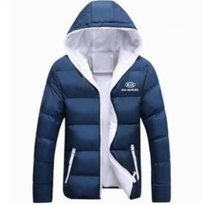 Мужская зимняя куртка с капюшоном KIA MOTORS пальто Мужские теплые пальто на молнии Мужская верхняя одежда пара хлопчатобумажная одежда Одежда 2019 спортивный S-5XL