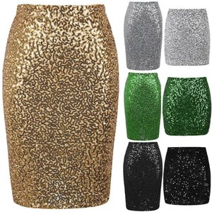 Fashion Women Sexy Summer Beach Lady Sexy Sequin Skirt Stretch Bodycon Sparkle Mini Skirt Party Long Dress S-XL