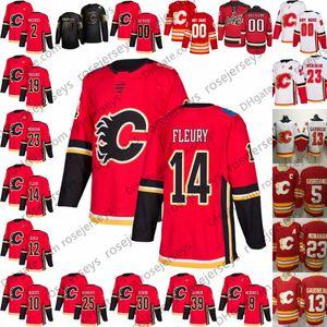 2019 Calgary Flames Пенсионер Джерси # 10 Гэри Робертс 14 Теорен Флёри 25 Нуиндайк Белый Красный Vintage 28 Линдхольм 33 David Rittich
