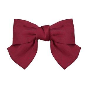 حمراء كبيرة كليب القوس الشعر مؤخرة الرأس لوليتا إكسسوارات الشعر الربيع كليب الفرقة اليابانية على غرار غطاء الرأس