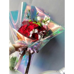 Yaratıcı Tasarım Çiçek Sarma Çanta Hediye ambalaj kağıdı Çello Kağıt Rianbow Flim Benzersiz Hediye çiçek sarar gereçleri
