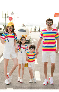 Model: T K 5 2019 New arrival Family Matching Outfits summer t shirts Comfortable Watermelon Red