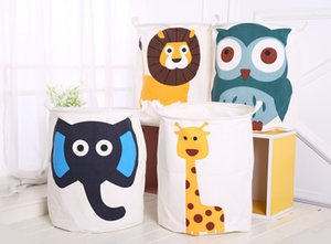 INS Animal printing Storage Bags Bucket cartoon Handbags Laundry Kids Toys Dirty clothes Storage Baskets 40*50cm 8 Styles M1036