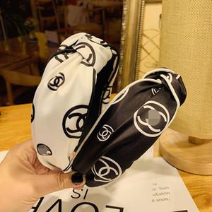 marca donne fascia dei capelli cross-annodato fascia bordo largo ragazze boutique di design del cerchio dei capelli tornante Fasce Hairband di Headwrap 2020 nuova D2250
