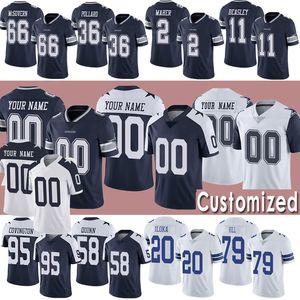 Customized DallasCowboysJersey Fußballjerseys Roger Staubach Troy Aikman 22 Emmitt Smith Darian Thompson Trikots MICHAEL GALLUP
