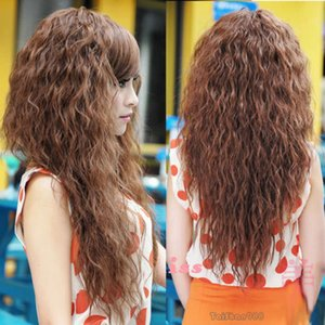 Hot Sell New Fashion Long Brown Wavy Women's Lady's Cosplay Hair Wig Wigs