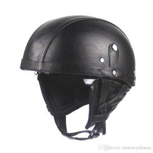 Самый продаваемый ретро стиль Harley мотоциклетный шлем с очками солнцезащитный крем половина лица электрический автомобиль мотоциклетный шлем унисекс винтажный шлем