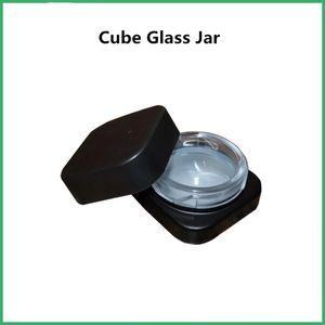 Küp Cam Kavanoz Toptan 5ML Premium Cam Konsantre Kare Kavanozları Çocuk Dayanıklı Kapak Konsantre Kavanoz Ücretsiz Kargo