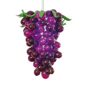 LR1130 soplado CE / UL borosilicato de Murano Dale Chihuly arte elegante de la lámpara formada linda púrpura uva