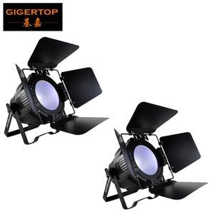 Tiptop 2 Units High Power 200w Cob Led Par Light Professional Stage Lighting Dmx Led Par Dj Disco Light With Fold Metal Cover 6in1 Color
