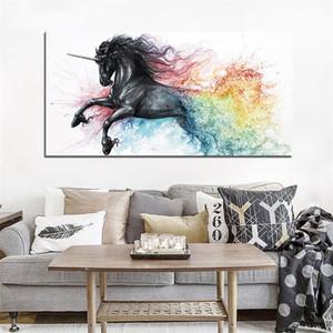 Einhorn Malerei Tintenstrahldruck Wohnkultur Schmücken Feine Pferd Zeichnung Kern Wandbild Poster Mode Mit Hoher Qualität Kein Rahmen 25yf J1