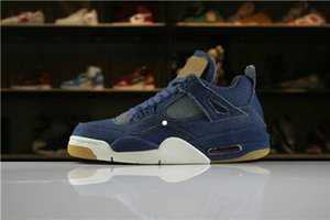2020 hot Arrival 4 IV Denim Blue Jeans Basketball Shoes For Men 4s LS NRG Limited Release Mens AO2571-401 Sports Sneakers