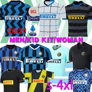 Tailândia ALEXIS Lukaku LAUTARO SKRINIAR Inter 2019 2020 2021 Milan camisa de futebol Calcio GODIN Barella jerseys 2019 top de futebol 2020 camisetas