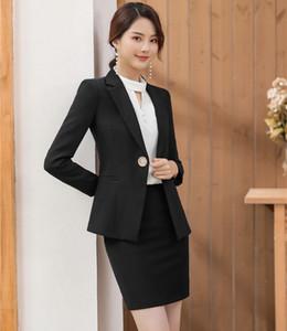 2019 Primavera Ladies Autumn Office Work Formal Wear Suits profissional de negócios com saia e tops Styles Mulheres Blazers