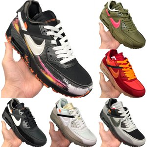2020 Zoom90 Leather and Mesh Breathable Running Shoes Zoom90 Buffer Rubber Built-in Zoom Air Cushioning Jogging Shoes