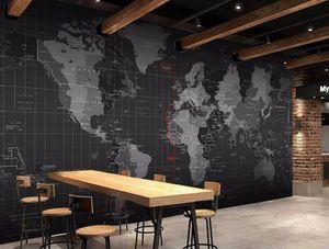 Bacal özelleştirme 3D Kişilik Teknoloji Dünya Haritası Duvar Arka Plan Duvar papel de Parede duvar kağıdı herhangi bir boyut fresk