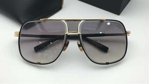 2087 Sun Black Box Occhiali da sole Gold Frame Nuovo con gradiente uomini grigi Occhiali da sole Lens sfumature e Piazza Pilot Opgbs