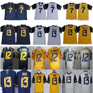 NCAA Colégio West Virginia Montanhistas Jersey 7 Will Grier 13 Andrew Buie 12 Geno Smith 8 Karl Joseph Jerseys Casa Fora Homens