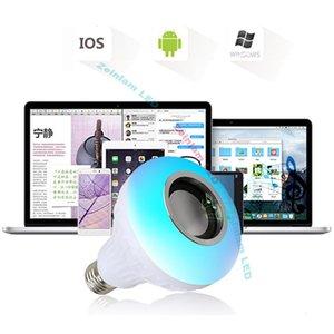 LED Light Bulb, Bluetooth Speaker Music Lightbulbs, 24 Keys Remote Control, 6W E27 RGB Changing Lamp Wireless Stereo Audio