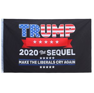 3x5 ft Trump Flag 2020 The Sequel machen die Liberalen Cry wieder Flagge Banner 5x3 Großhandel preiswerter Preis-Fedex-freies Verschiffen