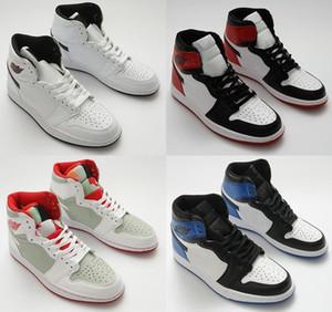 xshfbcl Rookie OG haut de l'année Pin chaussures Green Court enfants Violet Jumpman 1 ombre de basket-ball Bred Toe jeu de sport Chaussures de sport