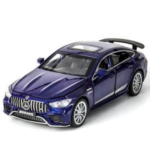 JY Diecast alliage Voiture de Sport Jouet, Mercedes Benz AMG GT63, lumières du son, tirez, 01h32, ornement de Noël cadeau d'anniversaire, Collectinig, 2-1