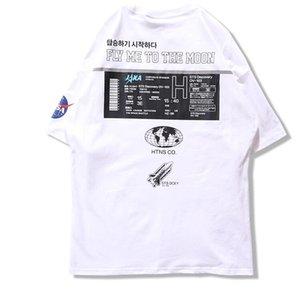 Brand Summer Shirts INS NASA Designer Men Hip Tshirts Hop Casual Streetwear Harajuku Printed Short Hipster Sleeve MaleT Tees SDL04 Fcsgu