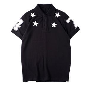 Vêtements pour hommes de haute qualité Polo Hommes de broderie étoile été T-shirt Hip Hop Hommes Femmes manches courtes Taille S-XXL