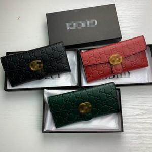 GG 2020 Женщины Wallet Marmont Известный дизайнер Pu кожаный GUCCI Single Zipper Дамы Длинный кошелек