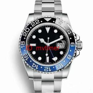Mens de luxo desinger Assista GMT Cerâmica Bezel Sea-Dweller Movimento Automático Inox Relógios Homem Relógios de pulso SUB
