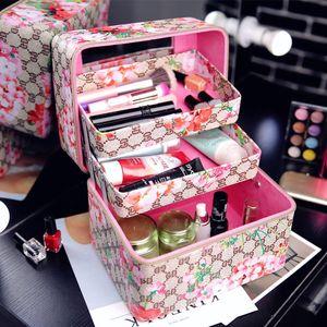 Frauen-Qualitäts-wasserdichtes Oxford Großes Geschossbauten professioneller Make-up Veranstalter Bolso Mujer kosmetischer Fall