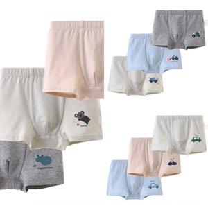 RmSAA Class A Boys' 3-piece boxed ammonia cotton medium and large boys' four-legged pants Underwear boys' auto engineering car elastic under