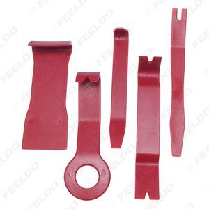 Großhandels5pcs Red Auto Stereo-Schlag-Tür-Schall Clip-Panel öffnen Remover-Werkzeug Moulding Trim Armaturenbrett Removal Tool Kit # 5759