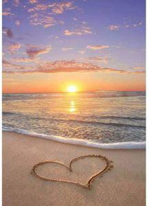 5D Алмазные Картина Комплекты DIY Бич Любовь Алмазные Картины горный хрусталь вышивка картинки для домашнего декора Стена подарки Пляж сердце