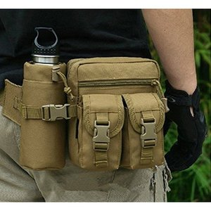 Tactical Pouch Sports Men Hip Waist Belt Bag Small Pocket Running Pouch Outdoor Travel Camping Bags Phone Case