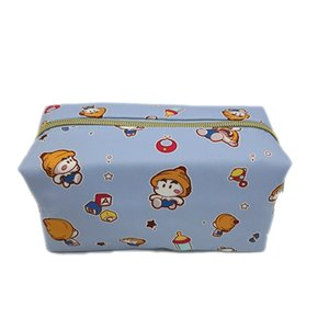 Cosmetic Bag Japanese Korean Latest 2019-Style Rectangular-Women's Carrying Cosmetic Bag Washed Storgage Bag