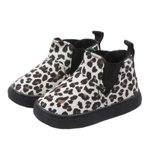 Crianças Marca Martin Botas Crianças Moda leopardo da neve Botas Boys and Girls Casual Sapatos Criança Luxo sapatos baixos 2 estilos explosão